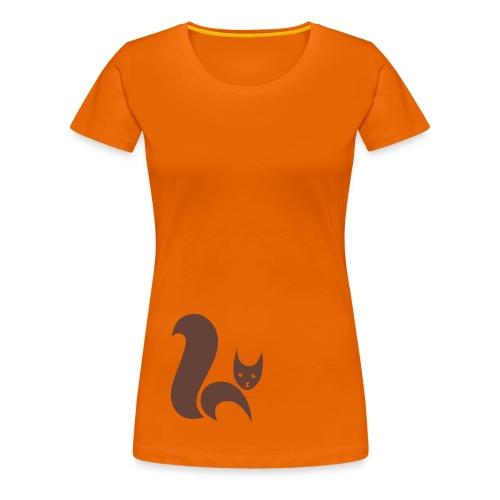 shirt fuchs eichhörnchen fox foxy squirrel eichkatzl schweif wald tier shirt tiermotiv - Frauen Premium T-Shirt