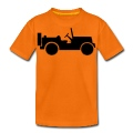 military jeep car Kids' Shirts