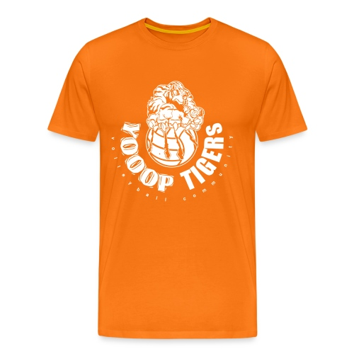 T-Shirt Classic Orange/Blanc - T-shirt Premium Homme