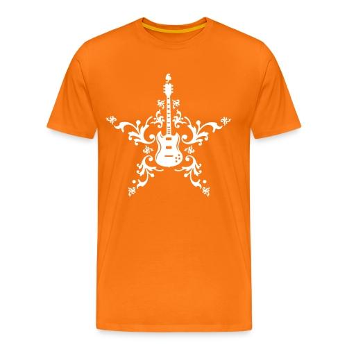 Men's Premium T-Shirt - Trevor Jones 'Guitar Star' T-Shirt with Trevor Jones name on sleeve