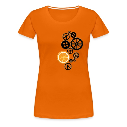 Orange Clocks - Vrouwen Premium T-shirt