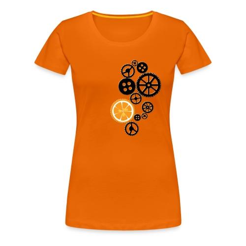 Orange Clocks - Vrouwen Premium T-shirt