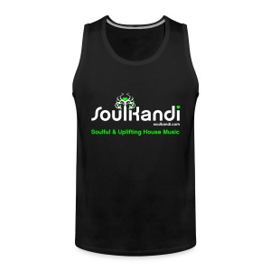 Tank Top with White & Green Soul Kandi Tree Logo - Men's Premium Tank Top
