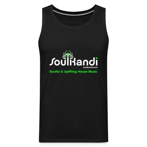 Tank Top with White & Green Soul Kandi Tree Logo - Men's Premium Tank Top