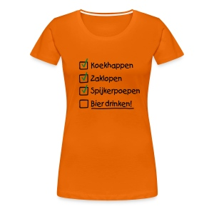 To do list Koninginnedag T-shirts - Vrouwen Premium T-shirt