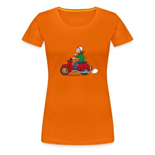 Comic-Schwalbenfahrer niedlich Basic Frauen - Frauen Premium T-Shirt