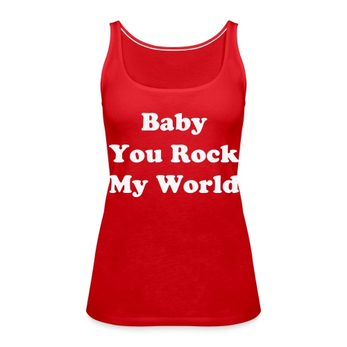 Rock my world - Vrouwen Premium tank top