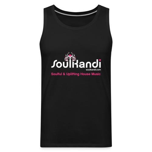 Tank Top with White & Pink Soul Kandi Tree Logo - Men's Premium Tank Top