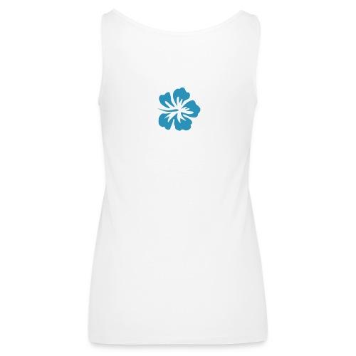 Cordula Tank  blaues Logo mit Slogan - Frauen Premium Tank Top