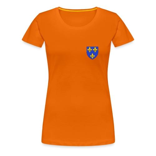 T-shirt Femme - Blason royal 3 fleurs de Lys  - T-shirt Premium Femme