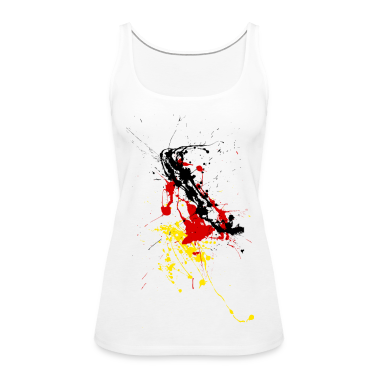 Germany fan Shirt - splashes of color Tops