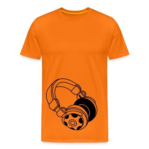 Maglia uomo Cuffie  - Maglietta Premium da uomo