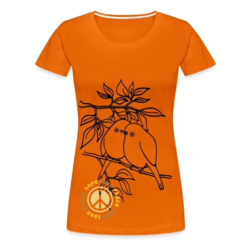Fly LovePeace T shirt, Orange - Women's Premium T-Shirt