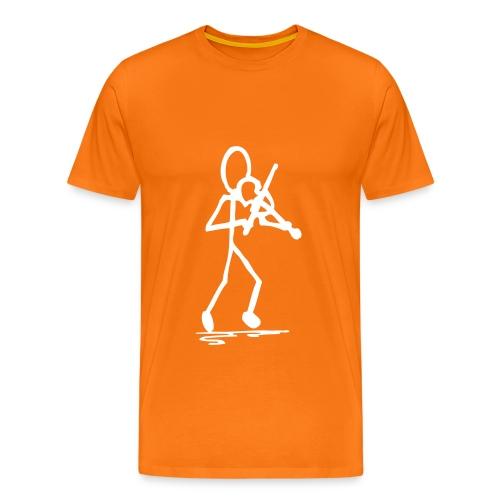 Fiddler Tshirt, Front Small Big Print - Men's Premium T-Shirt