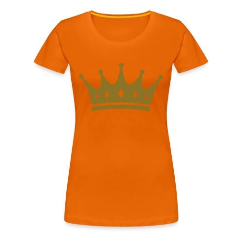 Koninginnedag Kroon - Vrouwen Premium T-shirt