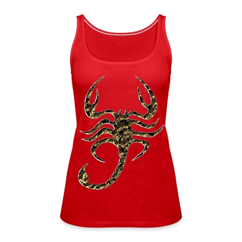 Scorpion Motif Top - Women's Premium Tank Top