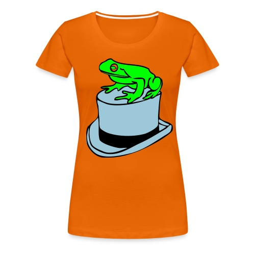 frog on a hat - Women's Premium T-Shirt