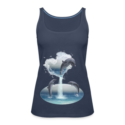 The Heart From The Dolphins - Frauen Premium Tank Top