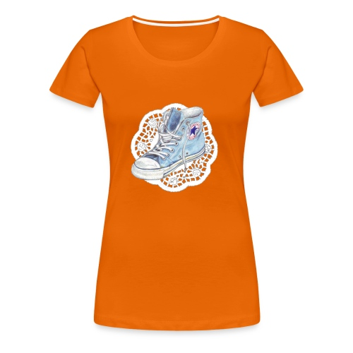 chuck orange - Frauen Premium T-Shirt