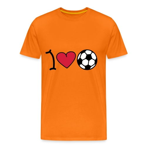 I Love Soccer! - Mannen Premium T-shirt