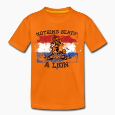 Drapeau national de football néerlandais lion orange championnat Tee shirts Enfants
