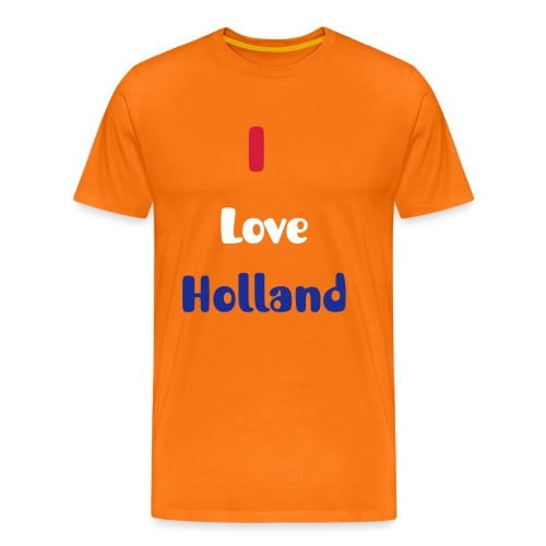 I Love Holland - Mannen Premium T-shirt