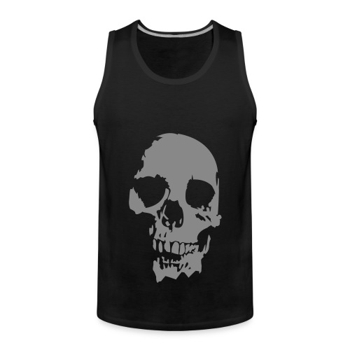 Dark Skull - Noir / Argenté - Débardeur Premium Homme