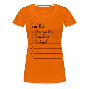 Ek t-shirt dames to do list - Vrouwen Premium T-shirt