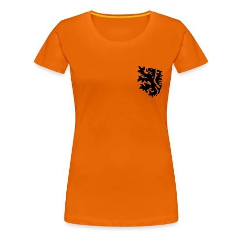 oranje ek shirt met jouw tekst - Vrouwen Premium T-shirt