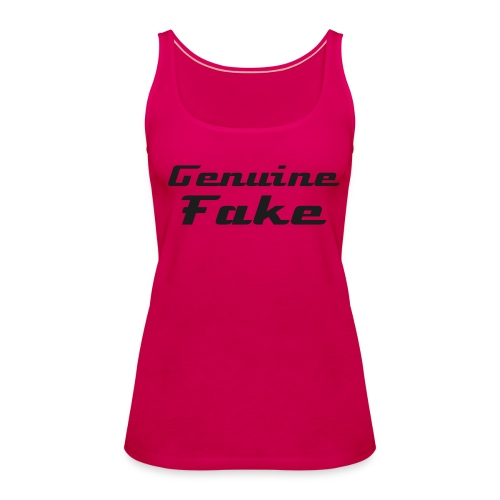Genuine Fake t-shirt - Women's Premium Tank Top