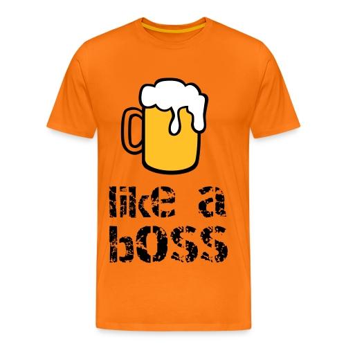 bier like a boss - Mannen Premium T-shirt