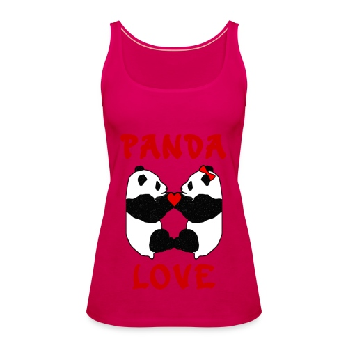 Panda Love Womens Strappy - Women's Premium Tank Top