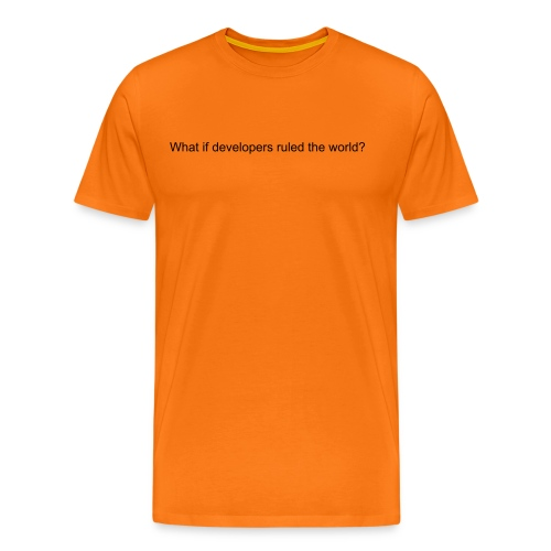 What If (with badge) - Men's Premium T-Shirt