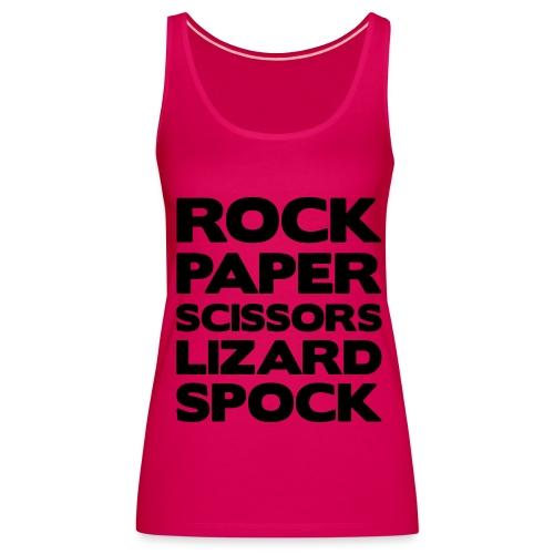 Rock Paper Damen Shirt  - Frauen Premium Tank Top