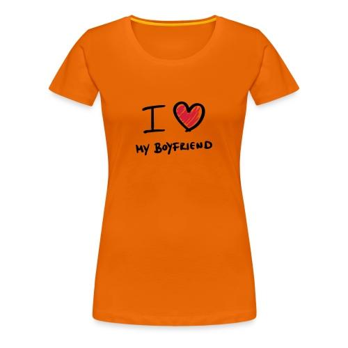 ..my boyfriend - Premium T-skjorte for kvinner
