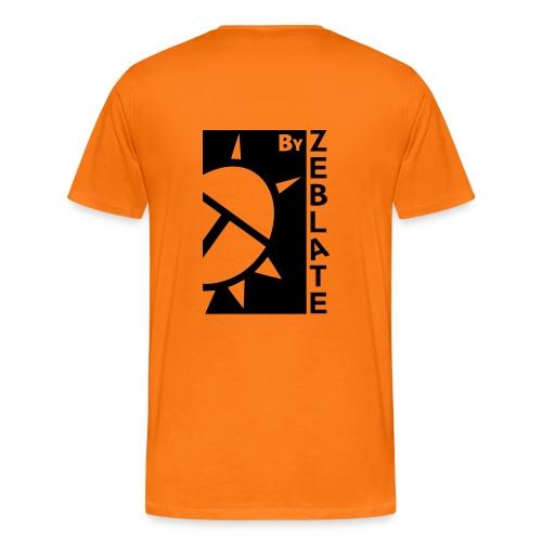 By ZeBlate Orange Noir - T-shirt Premium Homme