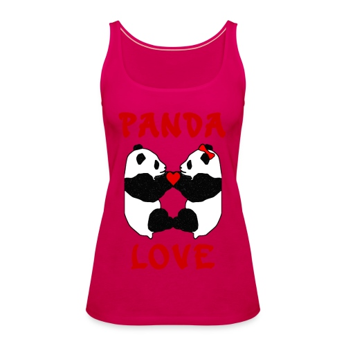Panda Love Womens Sleeveless - Women's Premium Tank Top