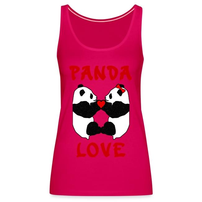 Panda Love Womens Sleeveless