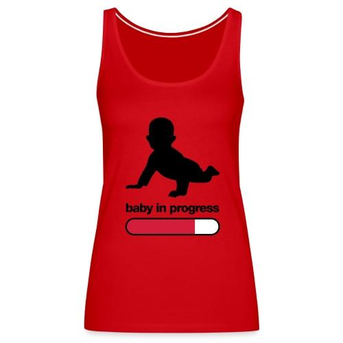 Baby In Progress Tee - Women's Premium Tank Top