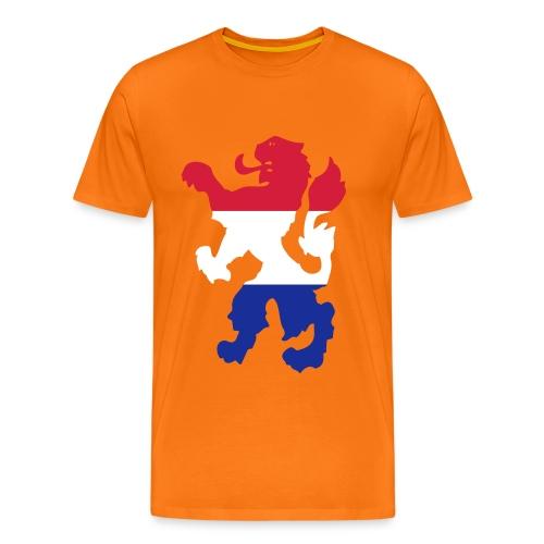 Leeuw (met naambedrukking) - Mannen Premium T-shirt