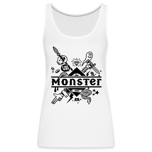 [monster girl] blanc - Women's Premium Tank Top