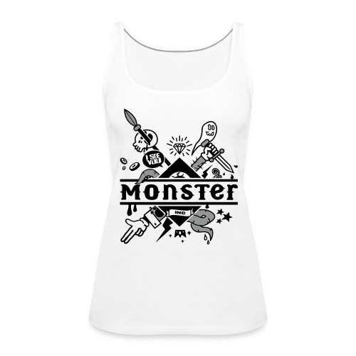 [monster girl] blanc - Women's Premium Tank Top