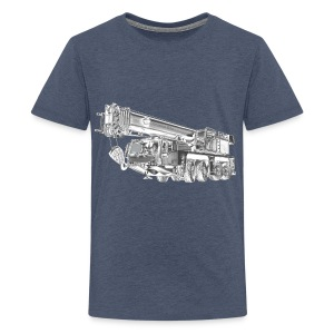 Mobile Crane 4-axle - Teenage Premium T-Shirt