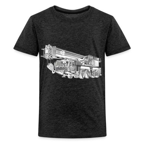 Mobile Crane 4-axle - Teenage Premium T-Shirt