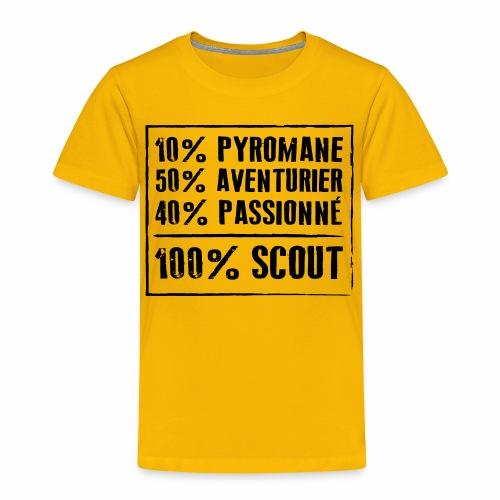 100% Scout - T-shirt Premium Enfant