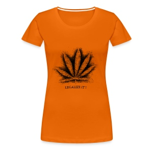 Sprüh Hanfblatt Legalize It Shirt Frauen - Frauen Premium T-Shirt