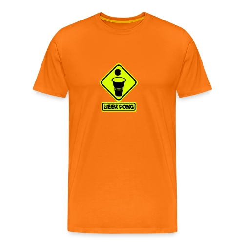 Panneau danger berr pong Homme - T-shirt Premium Homme