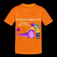 Camisetas ~ Camiseta premium niño ~ LA TINA EN LA CARROS DE FOC (cat)