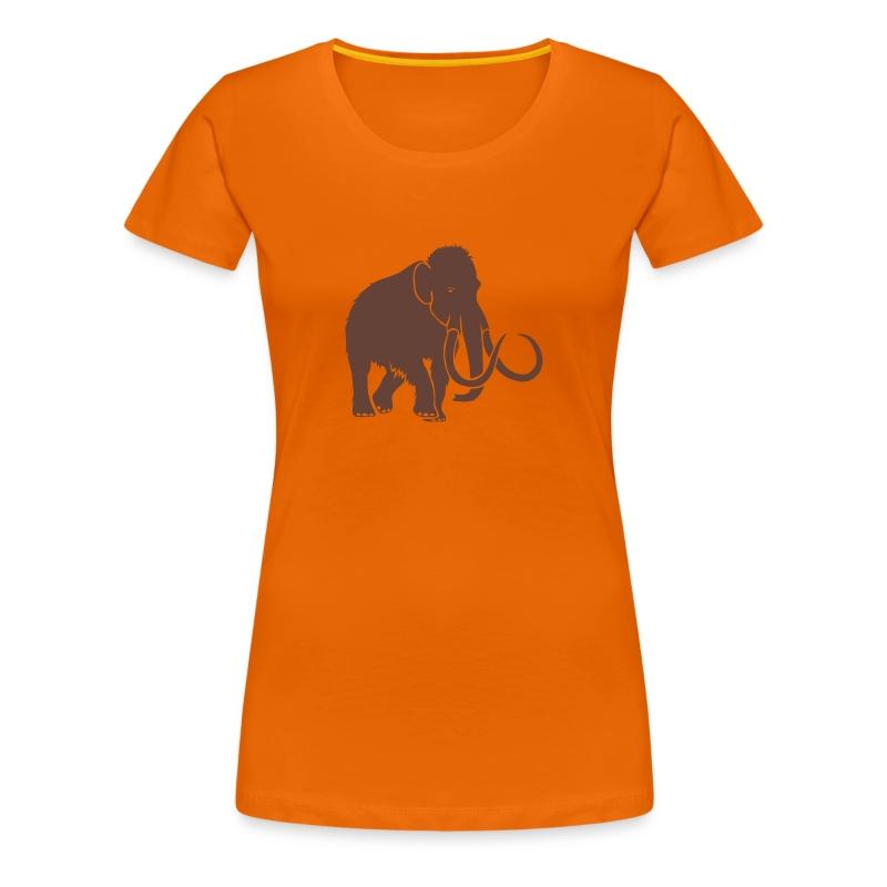 tier t-shirt mammut mammoth steinzeit jäger höhle elefant outdoor - Frauen Premium T-Shirt