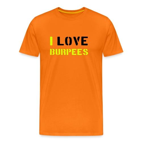 I love Burpee herrmodell - Premium-T-shirt herr
